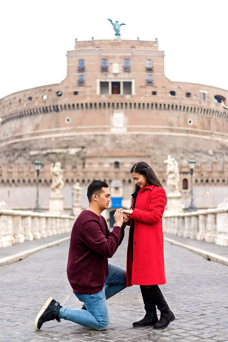 how to propose italy rome proposal