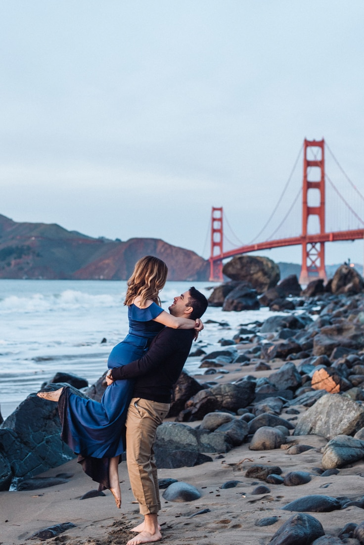 things to do in san francisco Golden Gate Bridge couple
