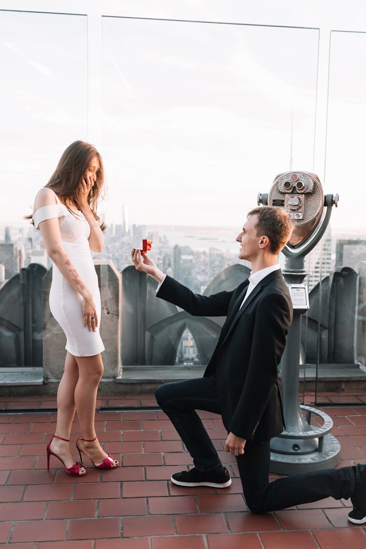 how to propose nyc rockefeller center