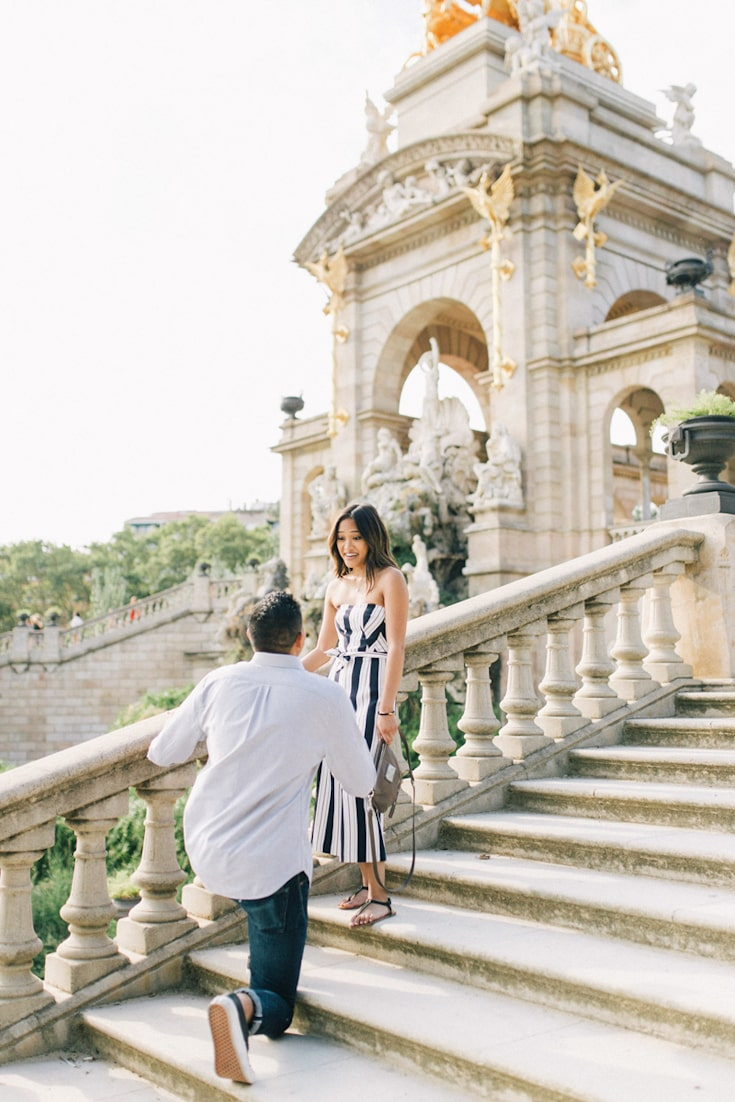 how to propose spain barcelona couple proposal