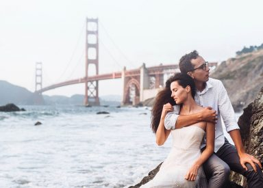San Francisco Post-wedding Photo Shoot: Golden Gate bridge View – Alex & Anastasia